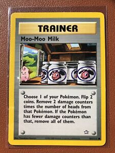 Pokemon Trainer Card - Moo-Moo Milk - Neo Genesis 101/111 - Common