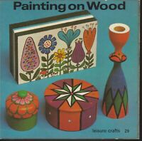 CRAFT , PAINTING ON WOOD , LEISURE CRAFTS #29 , BOOKLET