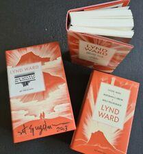 SIGNED Lynd Ward Six Novels in Woodcut 2 volume book set Art Spiegelman (Maus)
