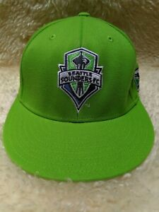 ADIDAS Seattle Sounders FC MLS Flexfit Hat Fitted Cap Size L XL Green