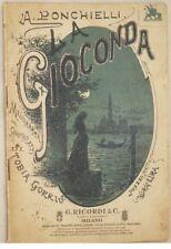 AMILCARE PONCHIELLI LA GIOCONDA GENNAIO 1914 LIBRETTO D'OPERA BOOKLET TEATRO