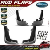4PCS Splash Guard Mud Flap Mudguard MudFlaps for Tesla Model S Sedan 2012-2019