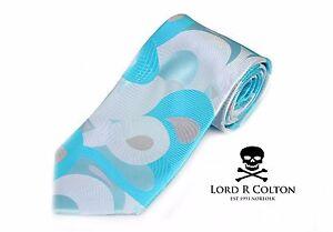 Lord R Colton Masterworks Tie Aqua & Gray Origin of Symmetry Necktie $195 New