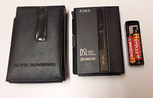 AIWA DSL HS-P202MII Personal Stereo Cassette Walkman Original Case Battery Case