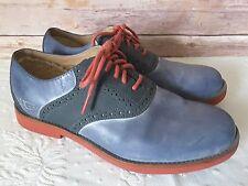 Ugg Australia Men's Leather Holston Shoes Saddle Blue and Red Size 9