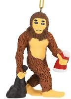 Tree Buddees Bigfoot/Yeti Sasquatch Christmas Ornament Santa Claus Xmas Funny