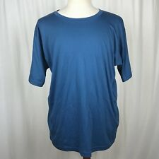 Magellan Sportswear Mens Large Shirt Blue Short Sleeve Pima Cotton