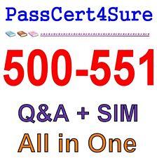 Cisco Best Exam Practice Material for 500-551 Q&A+SIM