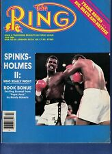 MICHAEL SPINKS/LARRY HOLMES Ring Boxing Magazine July 1986 FRANK BRUNO