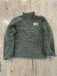 Mens North Face Jacket Campshire Pullover 1/2 Zip Sherpa Fleece Hoodie Large L