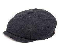 Voron hat Men Adjustable Newsboy Cap Dark Grey Sz S New