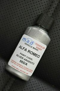 ALFA ROMEO SILVER ARGENTO 565/A 30ML TOUCH UP KIT REPAIR KIT PAINT WITH BRUSH