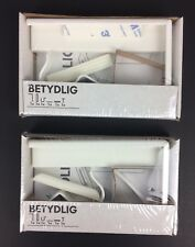 LOT OF 2 Betydlig Wall/Ceiling Curtain Rod Brackets White IKEA 302.198.89