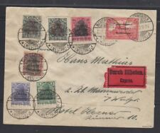 Marienwerder 5pfg-1 mark on cover with 75 pfg red proof  Michel 15-20, 18P1