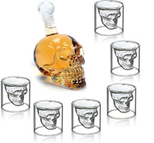 Skull Head Whiskey Vodka 6 Mug  Bottle Bar Creative Shot Drinking Wine Glass Cup