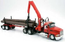 Mack Ch Logging Truck with Crane 1/32 New Ray Truck