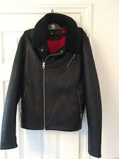 NEW Men's Zara Faux Leather Biker Jacket Detachable Collar Medium