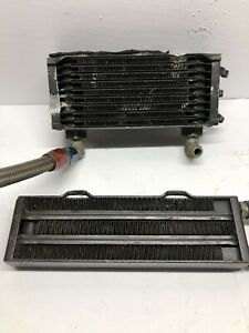 2 Used Harley-Davidson XRTT-1000 Race Bike Oil Coolers From Robison HD XR-1000