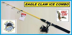 "EAGLE CLAW ICE EAGLE Fishing Rod And Reel Combo 36"" Length FREE USA SHIP #IE361C"