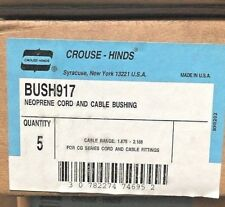 Crouse-Hinds Neoprene Cord & Cable Bushing BUSH917 Box Of 5