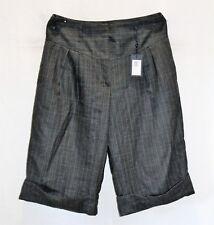 GANT Brand Charcoal Melang Glencheck Wool BERMUDA Shorts Size 14 BNWT #TD76