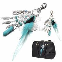 Keychain Feather Tassel Pendant Dream Catcher Keyring Key Chain Ring Keyfob Gift