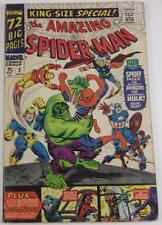 AMAZING SPIDERMAN KING SIZE SPECIAL #3 NOV 1966 AVENGERS HULK DOCTOR OCTOPUS VG+