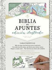 RVR 1960 Biblia de Apuntes, Edición Ilustrada, Blanco en Tela para Colorear...