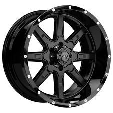 "4-NEW Tuff T-15 17x9 6x139.7/6x5.5"" -13mm Satin Black Wheels Rims"