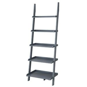 Convenience Concepts American Heritage Bookshelf Ladder, Gray - 8043391GY