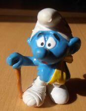 Bully: Smurf Schlumpf mit Pflaster, Verband & Krücke Top Zustand