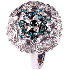 1.56 ct NATURAL REAL ROUGH DIAMOND .925 STERLING SILVER RING SIZE 7 see video