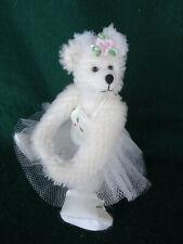 NEW Cream MOHAIR handmade BALLERINA 14cm teddy bear
