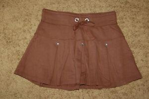 NEW Girls Limited Too Brown Rhinestone Drawstring Skort Sizes 10 18 LQQK