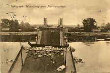Carte POLOGNE VARSOVIE WARSZAWA Wysadzony most Poniatowskiego Cachet dos