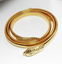 Vintage ACCESSOCRAFT Snake Belt or Necklace costume jewelry figural stretch 32
