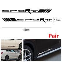 Pair Sport Side Door Car Truck Racing Reflective Vinyl Decal Stickers Waterproof