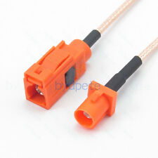 Fakra-M Orange male to female plug jack RG316 Pigtail Coax Extended Cable 50ohm