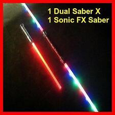 1 FX Led STAR WARS Lightsaber Light Saber Sword Sound Color FX + 1 Dual Sabers X