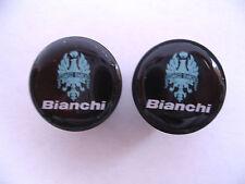 Bianchi handlebar bike caps, Bianchi Bike frame logo end plugs, Bianchi caps