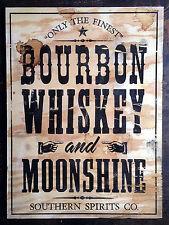 Bourbon Whiskey y destilación de estilo Vintage y Retro Metal Cartel De Pared/placa BAR/PUB Chic