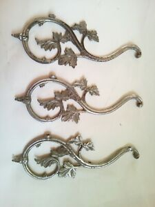 3 Branch Of Mount Of Chandelier Leaves Iron White Art Nouveau