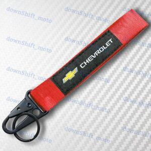 CHEVROLET CHEVY RED Racing Keychain Metal key Ring Hook Strap Lanyard Universal