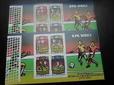 K26 KOREA  1980 WK FOOTBALL MI  BL.78  IMPERF.+PERF. SHEET  MNH