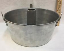 "Angel Food Cake Pan Baking Aluminum Removable Center Insert 10"" Vintage"