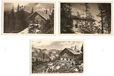 3 AK Dr.-Friedrich-Oedl-Haus, Eisriesenwelt, Werfen, Berghütte,  Pongau ca. 1948