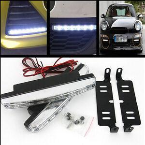 Style Car SUV White LED Daytime Running Light DRL Daylight Fog Lamp Day Lights
