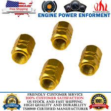 4pcs Wheel Tyre Tire Gas Valve Stem Air Dust Cover Screw Cap Car Truck Bike Gold