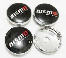 60MM Nismo Wheel Center Hub Caps  Rim Center Cap Emblem Badge Black