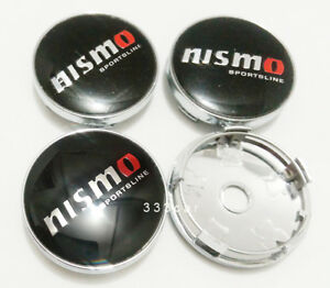 60MM Nismo Wheel Center Hub Caps  Rim Center Cap Emblem Badge Black